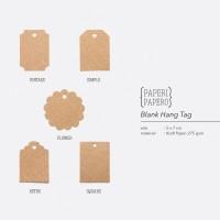 Blank Hangtag Rustic Coklat - Hiasan Hampers / Kemasan / Packaging