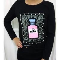 Baju Kaos Wanita Fashion Korea Paris Bottle