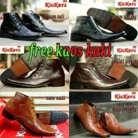 Unik sepatu formal kulit pria kickers boots pantofel style z Murah