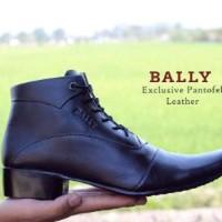 sepatu kulit pantofel pria BALLY boots zipper formal le Berkualitas