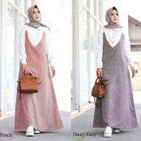 delisious gamis all size warna peach