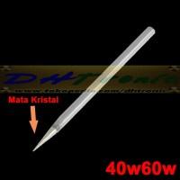 Kepala Ujung Jarum Mata Solder Kristal STHQ Tip 40W 50W 60W SILVER