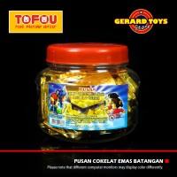 Permen Pusan Cokelat Emas Batangan Toples isi 50 pcs MURAH BANGET