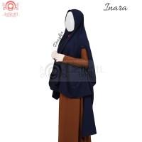 jilbab / hijab KHIMAR INARA, khimar lengan polos , khimar jumbo antem