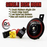 Klakson Dny Single disk plus Kabel Set bisa untuk motor & Mobil