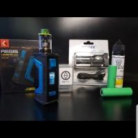 Paket lengkap authentic mod aegis legend 200w kit RTA baterai vape