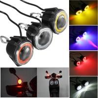 Lampu Tembak Sorot LED Spion Motor Projie AE DE Cree 15W Angel Eyes
