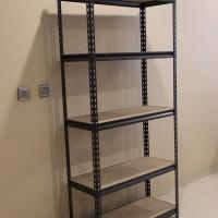Rak Besi Siku Tanpa Baut - Boltless Steel Rack (40cm x 120cm x 183cm)