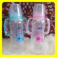 Training Cup Baby Huki 230ml Bottle With Handle Soft Spout Botol Susu