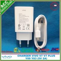 Charger Vivo V7 V7 Plus Y69 Y83 Y22 Y35 2Ampere Original 100% - Putih