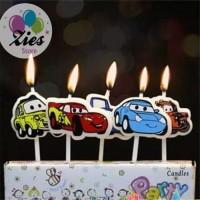 Lilin ulang tahun / lilin ultah karakter mobil cars