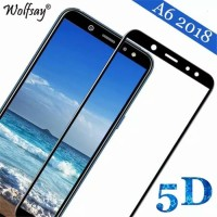 Tempered Glass Full 5D Samsung A6 2018 Anti Gores Kaca Full Lem