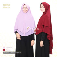 KHIMAR ceruty jumbo 2 layer hijab jilbab syari kerudung
