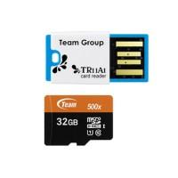 Team MicroSD 32GB UHS-1 PLUS Card Reader Speed 500x 80 Murah