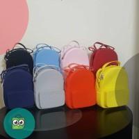 MINISO Tas Jelly Silicone Selempang Water Cube Silicone Crossbody