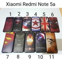 Case Hitam Karakter Xiaomi Redmi Note 5a / Soft Case Non Fingerprint