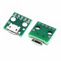 Micro USB To DIP 2.54mm 5Pin Female Adapter Connector PCB Converter
