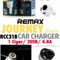 Remax Journey Car Charger 2 USB Port 4.8A + Cigarette Lighter RCC-218