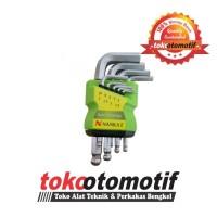 Kunci L Set Ballpoint Pendek 9 pcs 1.5-10 mm NANKAI ( TOP Quality )