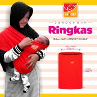 Gendongan Bayi Kaos Izzati Instant 2 in 1 Ringkas Aman dan Nyaman