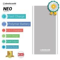 POWERBANK DELCELL NEO 10000MAH SLIM ORIGINAL MIRIP XIAOMI