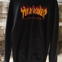 Hoodie thrasher Flame Black, bukan stussy, champion, supreme, palace