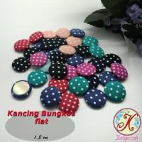 Kancing Bungkus Flat 1,8cm Polka per 50 pcs