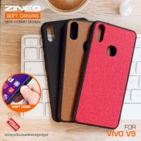 Soft Canvas Hybrid Case Vivo V9 Softcase Hard Silikon Casing Cover Gel