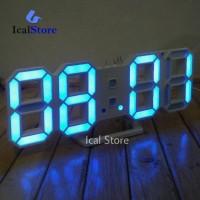 Jam Digital LED 6609 BIRU - Bisa di Dinding dan Meja