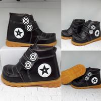 Sepatu Anak Laki Laki Boot All Star Coklat Usia 1 2 3 4 5 Tahun