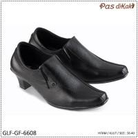 Sepatu Formal Pantofel Boot Ankle Block Heel Wanita | GLF-GF-6608