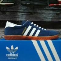 Sepatu Casual / Sepatu Olahraga / Sepatu Adidas Hamburg Navy Blue Gum