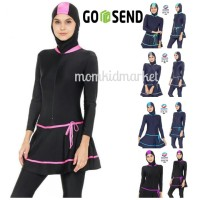 Baju Renang Muslim Wanita Muslimah Perempuan Dewasa ES-ML-DW-206 - M