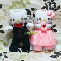 Boneka Couple Besar Hello Kitty Wedding Dress Yelpo Halus