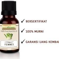 Happy Green Fennel Essential Oil (10 ml) Minyak Adas Murni Bahan Telon
