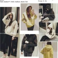 stokterbatas 26877 Black White Yellow Casual hooded Jacket le280117 i