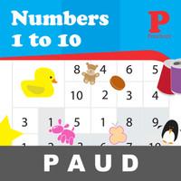 Numbers 1 to 10 Buku Aktivitas Anak PAUD Mengenal Mewarnai Angka