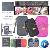 P.TRAVEL KOREAN Fabric Passport Cover Wallet Card Holder Organizer