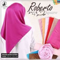 Kerudung Segi Empat Polos ROBERTO UMAMA Hijab Jilbab Satin