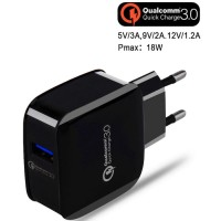 Wall Quick Charger Adapter USB 1 Port QuickCharge 3.0 Qualcomm