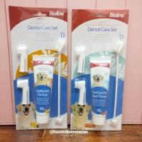 dog dental care set bioline. pasta sikat gigi anjing