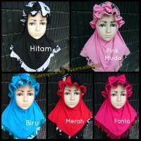 Jilbab Anak Syiria Topi Motif Kerudung Hijab Anak Balita Bayi Lucu
