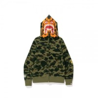 Bape 1st Camo Tiger Hoodie Full Zip Green