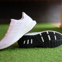 ORIGINAL Sepatu Adidas Cosmic 2 Full White Running Sneakers