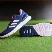 ORIGINAL Sepatu Adidas Cosmic 2 Navy White Peach Running Sneakers