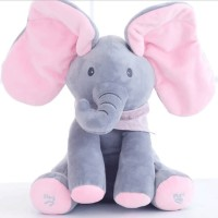 Boneka Gajah Peek A Boo Cilukba Boneka Elephant Boneka Musik - KSY146