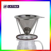 Latina REW-1110 Cono Dripper V60 Double Metal 02 Tanpa Kertas