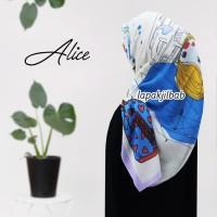 Jilbab Segiempat Voal Motif Kartun Barbie Fashion Alice