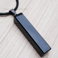 Kalung Plus Liontin Batu Natural Black Jade Giok Hitam