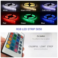FLEXIBLE STRIP LED 5050 RGB IP44 KOMPLIT SET TINGGAL COLOK